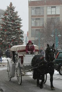 """Wish I had more of a notice! Celebrate """"Christmas in the Ward"""" on Dec. 6 & 7. Christmas lights, decorative shop windows and horse-drawn carriage rides will provide more holiday magic and the music of brass bands and choirs will fill the air. Be there!"""