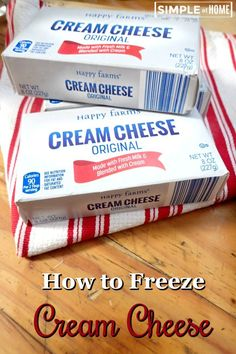 Can You Freeze Cream Cheese? Let me show you how to freeze it.