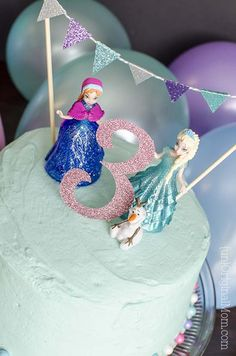 DIY Frozen Themed Cake Homemade Cake and Birthdays