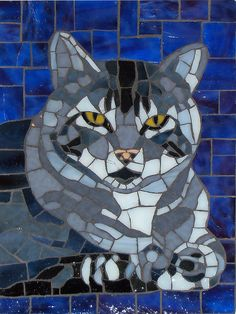 CAT mosaic!  by cbmosaics - Christine Brallier via flickr♥•♥•♥