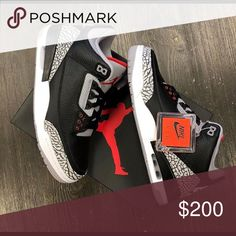 3e51452f9cb8 ⚫️Jordan 3 Black Cement ⚫ 100%AUTHENTIC👈👈👈 No Fakes Sold