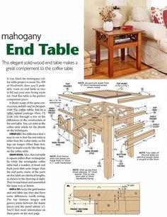 #2825 Build End Table - Furniture Plans