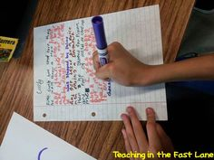 Teaching In The Fast Lane: Bright Ideas Linky: Simultaneous Shared Writing!