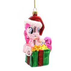 Holiday Ornaments Pinkie Pie My Little Pony Glass Ornament Height: 4.5 Inches Material: Glass Type: Glass Ornament Brand: Holiday Ornaments Item Number: Holiday Ornaments ML4151 Catalog ID: 31294 New
