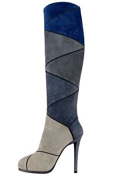 Roger Vivier High Heeled Boots in Shades of Blue  Fall Winter 2012 #Shoes #Heels #RogerVivier