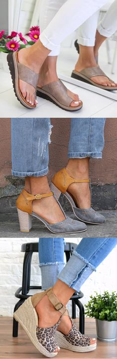 SHOP NOW>>Hot Summer Slipper Sandals Shoes for You.Up to 70% OFF! Buy More Save More!Shop Now! Walk In My Shoes, Fab Shoes, Crazy Shoes, Cute Shoes, Me Too Shoes, Fashion Wear, Fashion Shoes, Womens Fashion, Stitch Fit