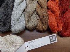Shibui Twig: a sport weight, slightly textured blend of 46% linen, 42% recycled silk, and 12% wool.