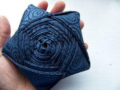 star made of folded fabric