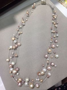 cría agua dulce perlas joyas collar collar de perlas Collier por supuesto A019 56cm