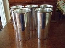 Set of Four(1Free to Make Five) Silver On Copper Tumblers