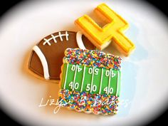 Football cookies!!!  LOVE IT!!!  UltimateTailgate just need a powercat!