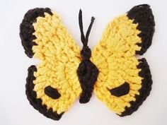 How to Crochet a Butterfly - Version 4 - YouTube