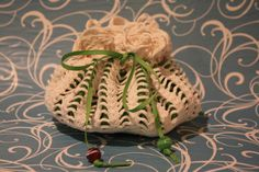 Vintage Crochet Doily is Upcycled Jewelry Pouch by MISSJEANSTHINGS, $10.00