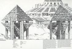 Paolo Soleri and the Cities of the Future Futuristic City, Futuristic Design, Futuristic Architecture, Arizona, Cities, Arcology, Jean Prouve, Future Buildings, Man Images