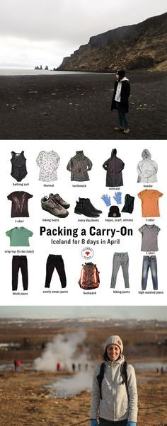 Packing a Carry-On 8 days in Iceland. A capsule wardrobe for picking everything you need for a cool weather vacation in just a carry on backpack.
