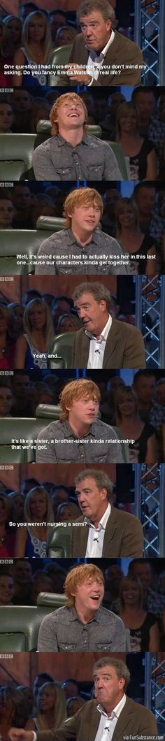 Funny Harry Potter Rupert Grint on Top Gear