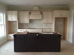 Kitchen Cabinets almost completely done.  I love them already!!