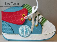 Add Ink and Stamp: First Birthday, Sneaker Card