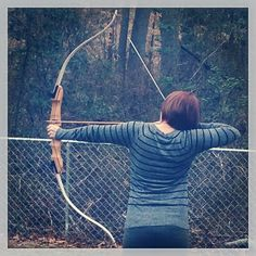 My baby and her recurve #recurve #bow #targets #Padgram