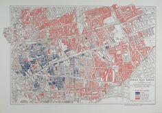 1899 Jewish population in east London #map #london #uk