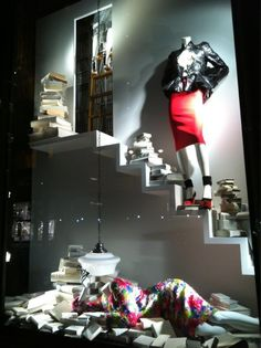 Window display at Bergdorf Goodman
