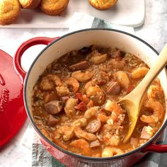 Louisiana Jambalaya Recipe from Taste of Home My husband helped add a little spice to my life. He grew up on Cajun cooking, while I ate mostly meat-and-potatoes meals.