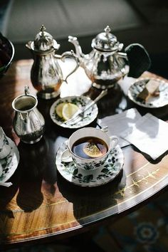 {tea}   late afternoon tea