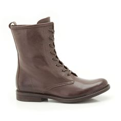 With an on-trend vintage influence these women's boots lace to the ankle for a handcrafted, authentic look in rich brown leather with subtle stitching enhances the simple style. Women's Boots, Combat Boots, African Tree, Rift Valley, Simple Style, My Style, Simple Shoes, Stitching, Brown Leather