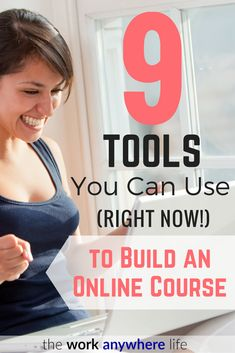 Have you ever wanted to build an online course on your blog? Here's 9 tools you can use right now to build your online course. This girl made over $600,000 in a year selling hers!