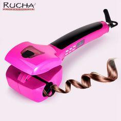 Rucha professionelle lockenwickler eisen nassen trockenes haar salon dampf lockenwickler automatische drehen dampf lockenwickler styling werkzeuge