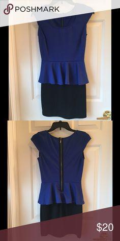 Super cute Peplum mini dress Only worn twice. Very comfortable. Stretchy material. BeBop Dresses Mini