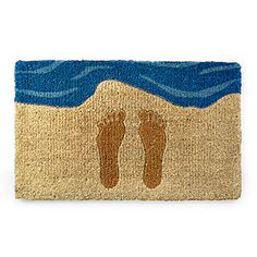 Footprints in the Sand Doormat | Beachy Home Decor | UncommonGoods