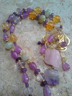 amethyst, rose quartz, purple jade,prehnite,citrine