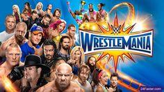 WWE WrestleMania 33 Matches Card Poster Wallpaper Ft. Undertaker, Roman Reigns, Bill Goldberg, Brock Lesnar, Shane McMahon, A.J. Styles, John Cena, Nikki Bella, Maryse, The Miz, Kevin Owens, Chris Jericho, Randy Orton, Bray Wyatt,