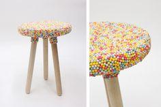 Unas sillas de chuches??  Candy collection de  Kirstin Overbeck