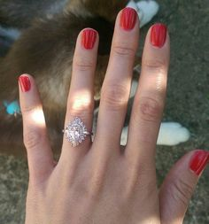 """heidigibson: """"Check out those long, lovely fingers! The Oval Gatsby is looking stunning in rose gold ❤️ from Mark: """"Heidi, Thank you so much the ring arrived early today. Being able to ask for her hand on our anniversary seems like fate…the ring is..."""
