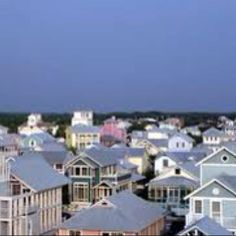 the pretty rooftops of Seaside Florida