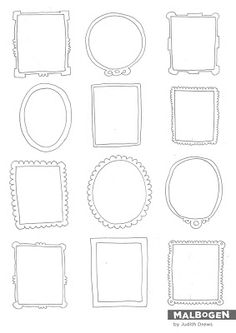 small frames - printable
