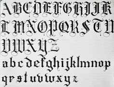 Capital L Old English Calligraphy