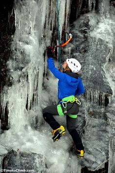 Ice climber at Frankenstein cliffs in Crawford notch of the white mountains NH Alpine Climbing, Rock Climbing, Ice Climber, Washington, Cool Rocks, White Mountains, Mountaineering, Climbers, New Hampshire
