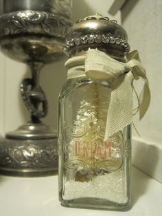 Salt Shaker Christmas Ornament OR add a vintage ring or necklace for a grandchild or family member. Nice idea