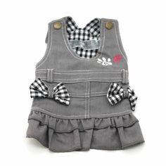 Amazon.com : Wonpet Dog Denim Skirt with Shoulder-straps Red Size S : Pet Dresses : Pet Supplies