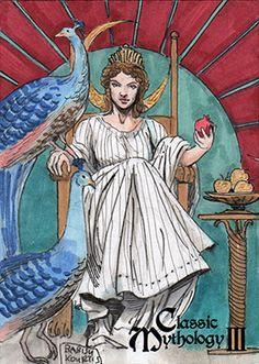 Hera - Babisu Kourtis by Pernastudios on DeviantArt Greek Gods And Goddesses, Greek Mythology, Egyptian Goddess, Thalia, Indie, Classic, Painting, Deviantart, Derby