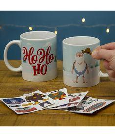 Set cana si stickere Santa Dress Up - Cadouri GiftForYou Santa Dress, Dress Up, Mugs, Tableware, Dinnerware, Santa Outfit, Costume, Tumblers, Tablewares