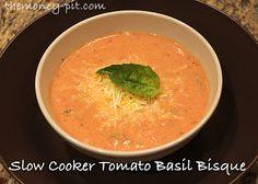 Creamy Crock Pot Tomato Basil Bisque via @TheMoney-Pit Blog