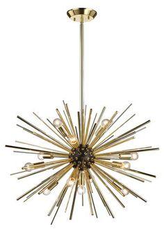 Dimond Home Starburst 12 Light Pendant Light Chandelier, Home Lighting, Pendant Light, Candelabra Bulbs, Light, Dimond Home, Bulb, Pendant Lighting, Starburst