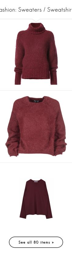 """""""Fashion: Sweaters / Sweatshirts"""" by katiasitems on Polyvore featuring tops, sweaters, shirts, red, kirna zabete, sale /, oversized long sleeve shirt, red cashmere sweater, red long sleeve shirt and over sized sweaters"""