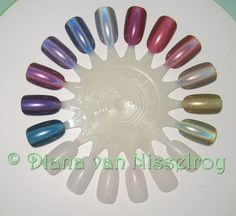 All 12 colors of the China Glaze OMG collection Holographic Nails, China Glaze, Diana, Swatch, Nail Art, Museum, Collection, Colors, In Living Color