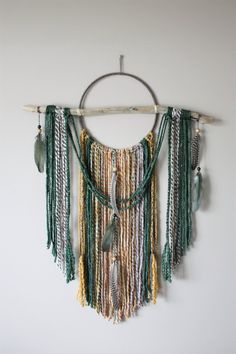Excited to share the latest addition to my shop: Large Dream Catcher-Bohemian Dream Catcher-Forest Green Mustard Yellow Wall Hanging-Woodland Nursery-Yarn Tapestry-Boho Home Decor-Driftwood Dream Catcher Nursery, Dream Catcher Craft, Dream Catcher White, Large Dream Catcher, Dream Catcher Boho, Dream Catchers, Mustard Yellow Decor, Dream Catcher Tutorial, Yarn Wall Art