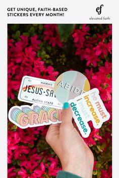 Each month, we'll send you unique vinyl stickers. They ship for FREE if you live in the U. Join our sticker subscription and get unique Christian stickers every month. Stick them on your hydro flask, laptop, notebook and more! Bible Verses Quotes, Faith Quotes, Christian Life, Christian Quotes, Stairway To Heaven, Christian Charities, Cute Stickers, Mac Stickers, Laptop Stickers